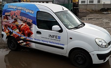 Oklejanie samochodów Kielce - Renault Kangoo - Infes