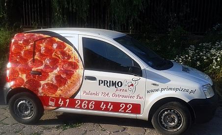 Oklejanie samochodów Ostrowiec - Firat Panda - Primo Pizza