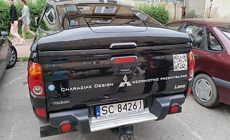 Oklejanie samochodów Kielce - haraziak - Mitshubishi