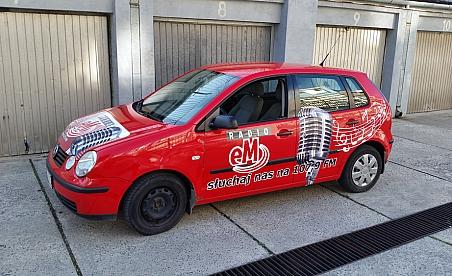 Oklejanie samochodów Kielce - VW Polo - Radio EM