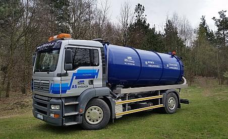 Oklejanie ciężarówek Kielce - Man TGA - asenizacja