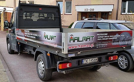 Oklejanie samochodów Kielce - Fiat Ducato Halmat