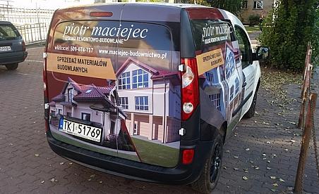 Oklejanie samochodów Kielce - Renault Kangoo - Maciejec Budownictwo