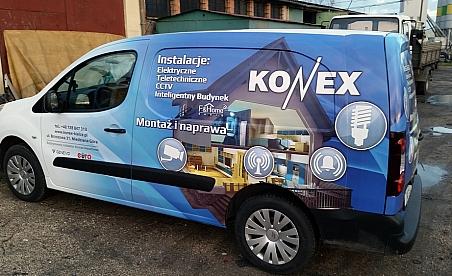 Oklejanie samochodów Kielce - Citroean Berlingo -Konex