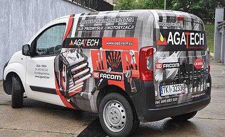 Oklejanie samochodów Kielce - Paugeot Beeper AgaTech