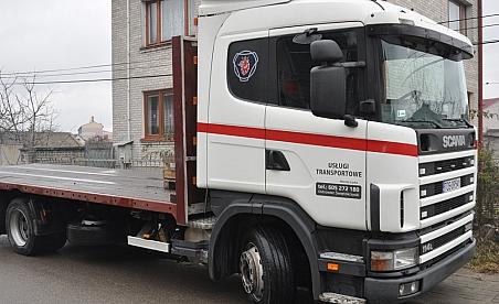 Oklejanie ciężarówek Kielce - Scania 114L