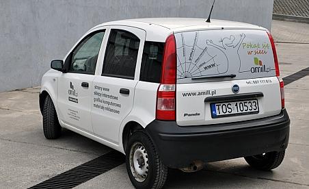 Oklejanie samochodów Kielce Fiat Panda - amill.pl