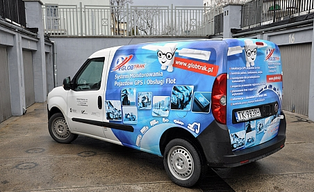 Oklejanie samochodów Kielce Fiat Doblo MAXI - Globtrak