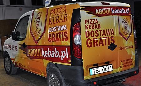 Oklejanie samochodów Kielce - Fiat Doblo Abdul