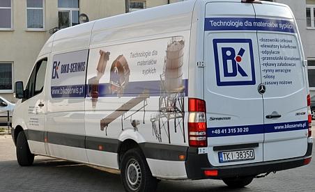 Oklejanie samochodów Kielce - Mercedes Sprinter Biko serwis