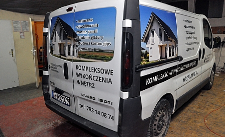 Oklejanie samochodów Kielce - Opel Vivaro