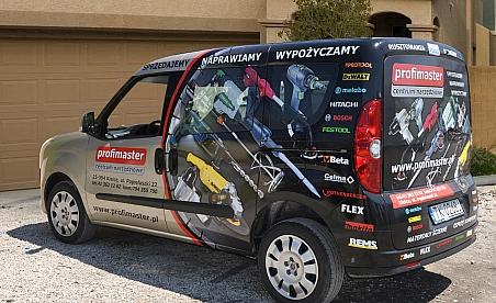 Oklejanie samochodów Kielce Fiat Doblo - Profimaster