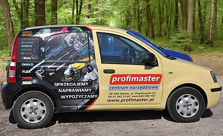 Oklejanie samochodów Kielce Fiat Panda - Profimaster