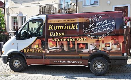 Oklejanie samochodów Renault Master - Kominki Rysiński