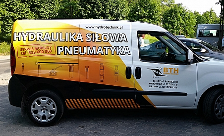 Oklejanie samochodów Kielce - Fiat Doblo - BTH Hydrotechnik