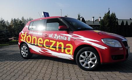 Oklejanie samochodów Kielce - szkoła jazdy Kielce