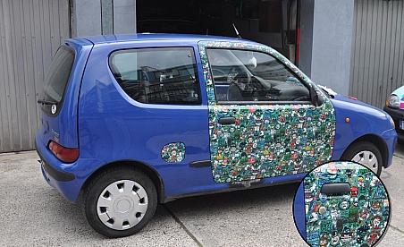 Stikersbomb Kielce - Fiat Seicento