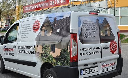 Oklejanie samochodów Kielce - Peugeot Expert Expres Dach