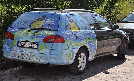 Oklejanie samochodów Końskie - Toyota Avensis Ekosprzątanie