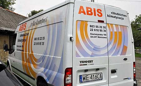 Oklejanie samochodów Warszawa - Ford Transit ABIS