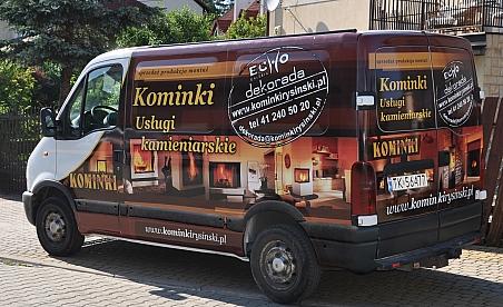 Oklejanie samochodu Renault Master - Kominki Rysiński