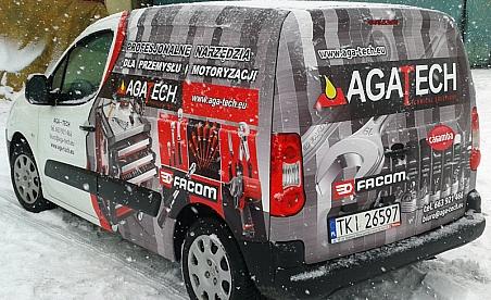 Oklejanie samochodów Kielce - Peugeot Partner - Aga-Tech